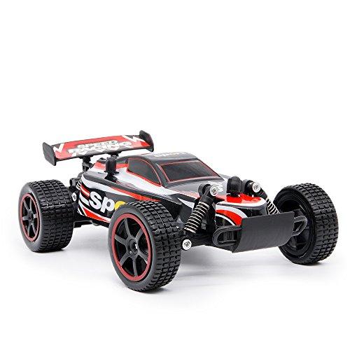 MMTX RC Fernbedienung Auto Rock Geländewagen Drift Crawler Truck 2,4 Ghz 2WD Geschwindigkeit 1:20 Fernbedienung Buggy Hobby Auto mit Beste Spielzeug Geschenk für Kinder und Erwachsene. (Rot)
