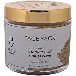 Aerth Naturals Face Pack, Bentonite Clay and Fuller Earth, 50 g