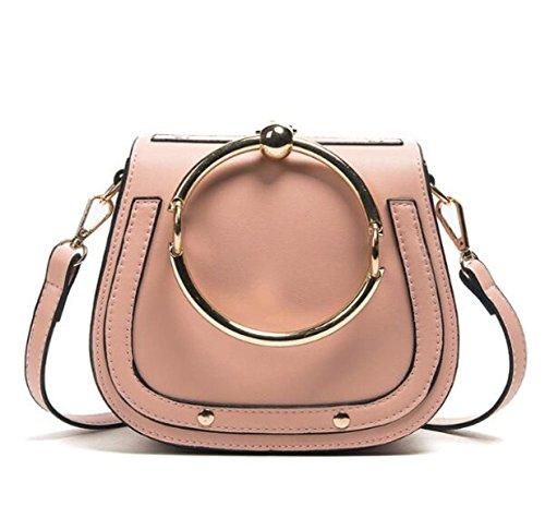 Nuovo Anello Sacchetto Di Sella Borse Moda Selvaggia Alla Moda Borsa Delle Signore Pink