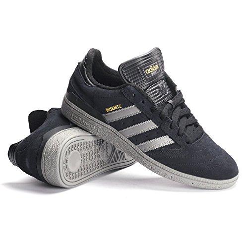 Adidas Skate Busenitz (blanc / Ftwwht / Gum) -10.5 Black/Solid Grey/Gold Metallic