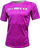 T-shirt running Ekeko Teide Rose graphite, Flash T-shirt Pro Competicion, athlétisme, Running, Maraton, 21 K, Competicion, L