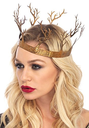 shoperama Goldene Dark Forest Krone aus Metall von Leg Avenue Königin Wald Bäume edel Queen Halloween