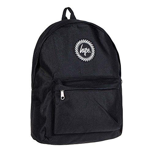 Hype mochila | Mochila Unisex Designer bolsa bandolera de lona para la escuela | Just bolsas de Hype, Negro, Talla Unica