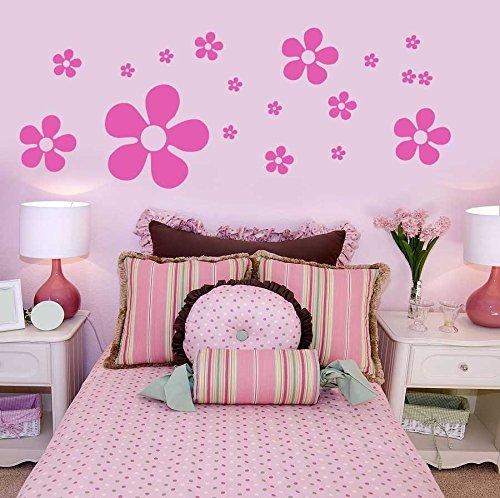Blumen Wandkunst Aufkleber Schränke Kommode Kinder Schlafzimmer Kleiderschrank Aufkleber Grafik Dekoration - Gelb Matt