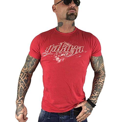 Yakuza Original Herren Battery Of Suicide T-Shirt Ribbon Red