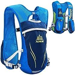 Mochila de hidratación Triwonder Packpack 5.5L Mochilas Trail Mochila de hidratación Race Race running Mochilas (Azul - Only Vest)