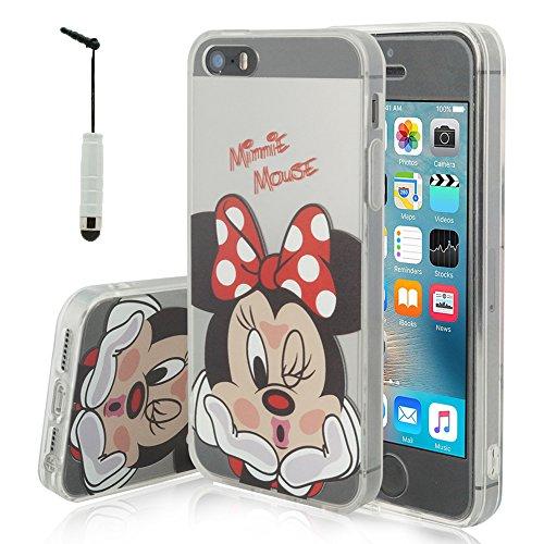 bfbb5e945ed Funda transparente de silicona con diseño de dibujos animados Disney para  Apple iPhone 5, 5S