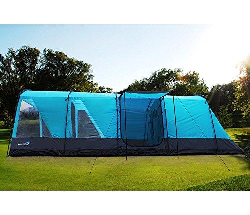 Peaktop-4000mm-Waterproof-6-9-Person-3-Room-Berth-Hiking-Dome-Camping-Tent-Blue-Grey