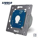 Livolo EU Standard die Basis von 1 Gang 2 Way Lichtschalter mit LED-Anzeige,VL-C701S-A