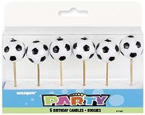 6 Mini Kerzen Fussballe Auf Holzhalter Fur Party Und Geburtstag