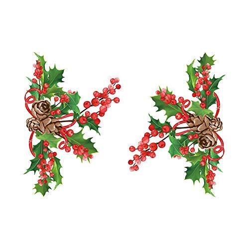 Haodou Wand Aufkleber 3D Weihnachten Baum Sterne WC Aufkleber Kühlschrank Garderobe Fenster Kunst Wandbild PVC Abnehmbare Weihnachten Dekoration