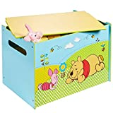 Disney Winnie the Pooh Kids Toy Box - Childrens Bedroom Storage Chest with Bench Lid by HelloHome