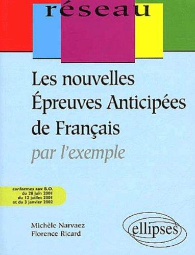 Les nouvelles épreuves anticipées de français