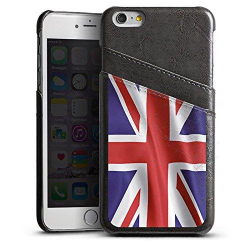 Apple iPhone 5s Housse étui coque protection Angleterre Drapeau Grande-Bretagne Étui en cuir gris