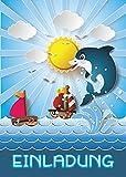 6 Einladungskarten Kindergeburtstag Mädchen Jungen Delfin Tiere Jungs Geburtstagseinladungen Einladungen Geburtstags Party Kartenset Schwimmbad