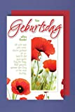 Plattdeutsch Grußkarte Geburtstag Ton Geburtsdag allns Gode Mohn 11x17