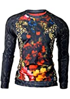 D&R Fashion Long Sleeve T-Shirt by Mondo Designers Sweatshirt Colourful Slim Fit Clubbing Clothes All Sizes