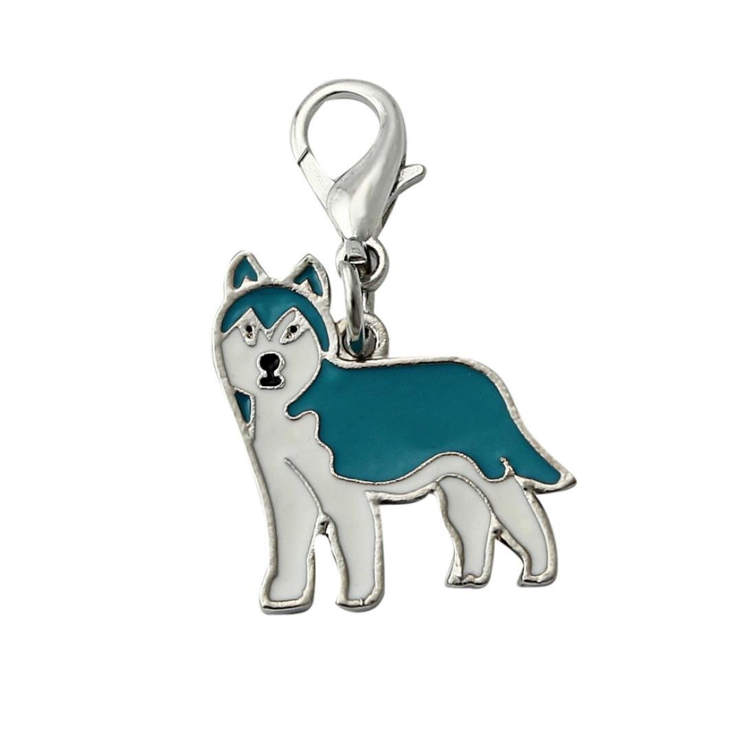 SOMESUN Pet Dog Lovely Jewelry Pendants Siberian Husky Dog Tag Disc Pet ID Disk Enamel Accessories Collar Necklace Pendant