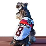 Besmall Hunde Kostüme Sommer Hundebekleidung Weihnachtsmannkostüm Dress für Hunde (XS/S/M/L/XL/XXL,Rose Rot)