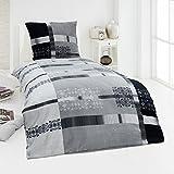 Warme Microfaser Fleece Winter Bettwäsche Kuschel weich 135x200 Kissenbezug, Design - Motiv:Design 2