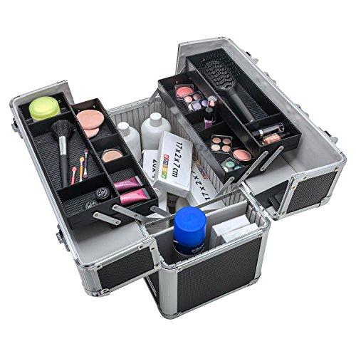 Werkzeugkoffer Angelkoffer Präsentationskoffer + Tragegurt Schlüssel Farbwahl - 5