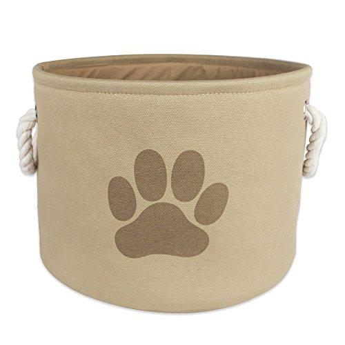 (FoxyAssort Aufbewahrungskorb (Leine, Spielzeug, Kroketten....) für Haustiere (Hund, Katze, Kaninchen...)| Hellbraun | 22.9 X 30.5 X 30.5 cm )