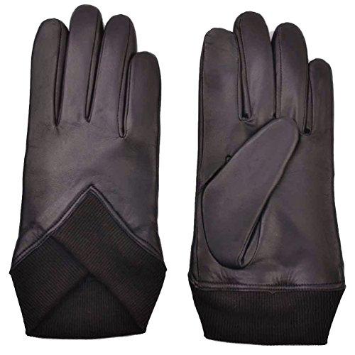 YISEVEN Herren Braun Schaffell Lederhandschuhe Touchscreen Winter Handschuhe mit warm gefüttert - Small/8.5