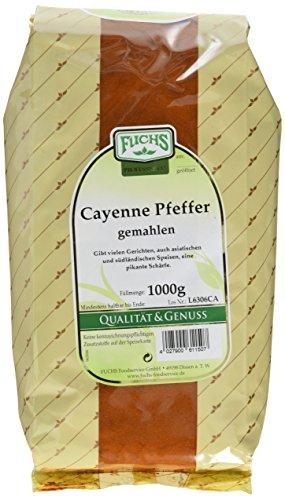 FUCHS Cayenne Pfeffer / Chili gemahlen, 2er Pack (2 x 1 kg)