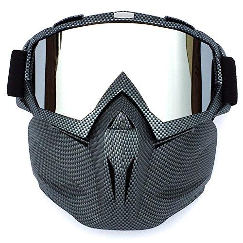 HCMAX Motociclo Occhiali da Moto Maschera Viso Rimovibile Casco Fog-Proof Occhiali Bici per Deserto Fuori Strada Equitazione da Corsa Uomini Do