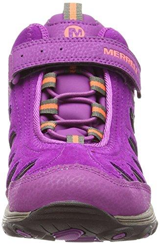 Merrell Light Tech Hike Mid Ac Waterproof, Chaussures de Randonnée Hautes fille VIOLET (BERRY/CORAL/GUNSMOKE)