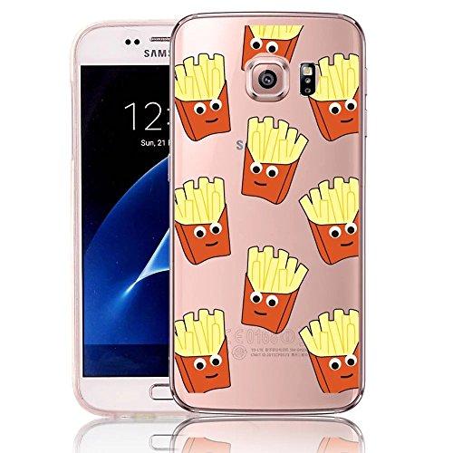 Coque Samsung Galaxy S6 Edge TPU Case Cover Absorption de Choc Hull, Vandot Samsung Galaxy S6 Edge Etui Silicone Souple Transparente Case Très Légère Housse Ajustement Parfait Coque pour Samsung Galax Frites