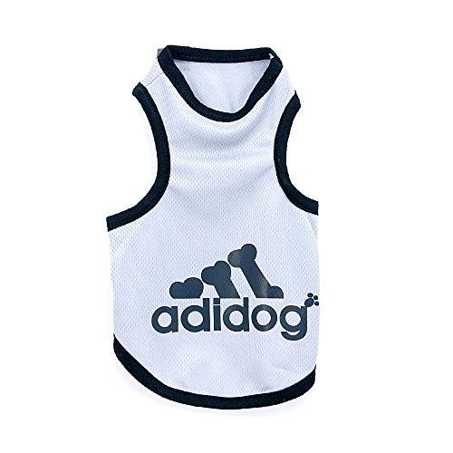 4yourpet Hundeshirt, Sommershirt für Hunde ADIDOG - extra leicht - für den sportlichen Typ Größe: XXL Farbe: Silber
