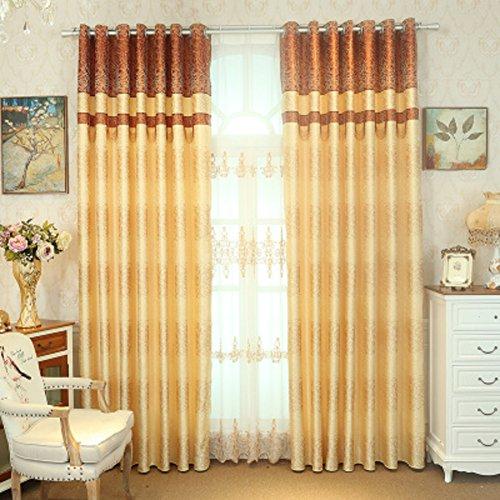 Vorhang Europäisch Moderne einfach Living room Schlafzimmer vorhänge-C 250x270cm(98x106inch)