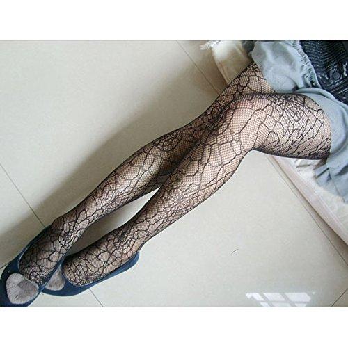 Mädchen Elastic Weihnachtsstrumpf Fashion Spider Web Strumpfwaren Strumpfhosen Schwarz Strumpfhose ()