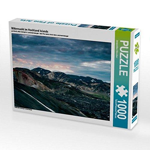 Mitternacht im Hochland Islands 1000 Teile Puzzle quer