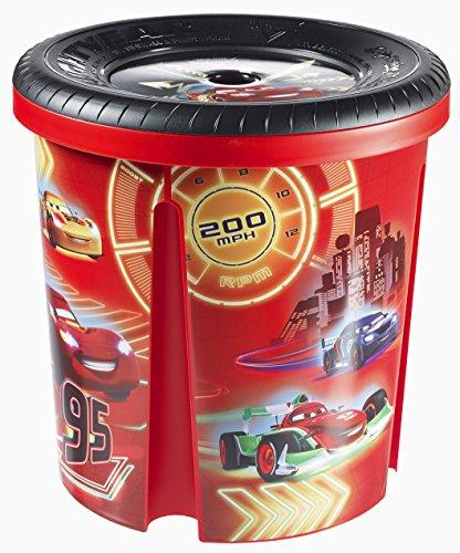 """Curver 220585 - Caja para juguetes (polipropileno, 39,29 x 39,29 x 40,1 cm), diseño de """"Cars"""" de Disney"""