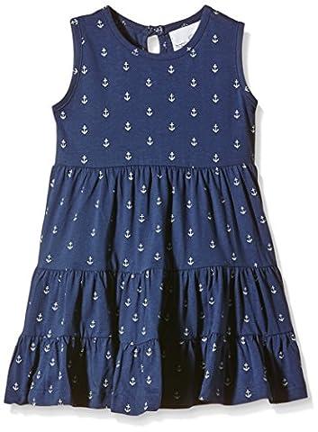 Happy Girls Mädchen Kleid aus Jersey mit Anker Print, All over print, Gr. 152, Blau (navy 62)