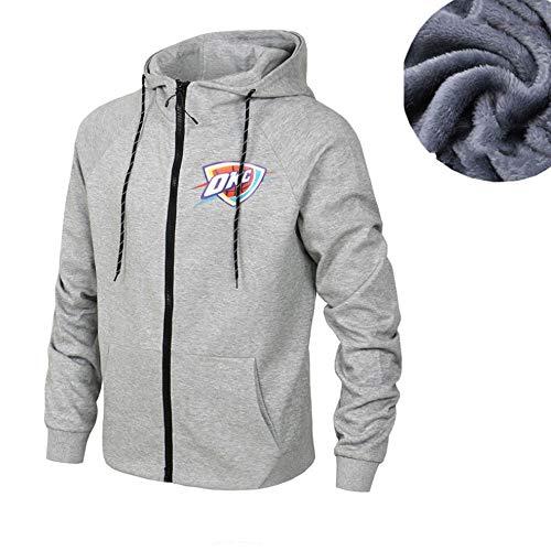 LLYLL Basketball Jerseyhoodie Oklahoma City Thunder Pullover Kleidung Langarm-T-Shirt Gedruckt Mit Kapuze Spitze Beiläufige Bequeme Sweatshirt,Grau,3XL