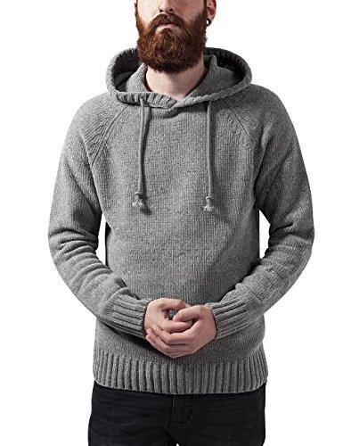 Urban Classics Herren Kapuzenpullover Chenille Hooded Sweater Grau (grey 111)