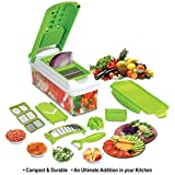 #6: Floraware Plastic Multi Fruit and Vegetable Cutter, Green