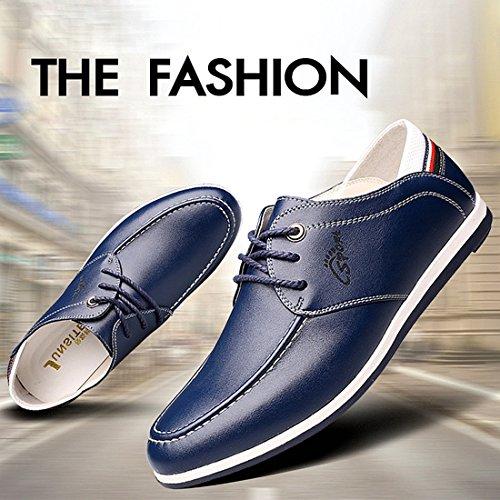 Gaorui Herren Casual fahren Schuhe atmungsaktives Schuhe Business Schnürhalbschuhe Schwarz