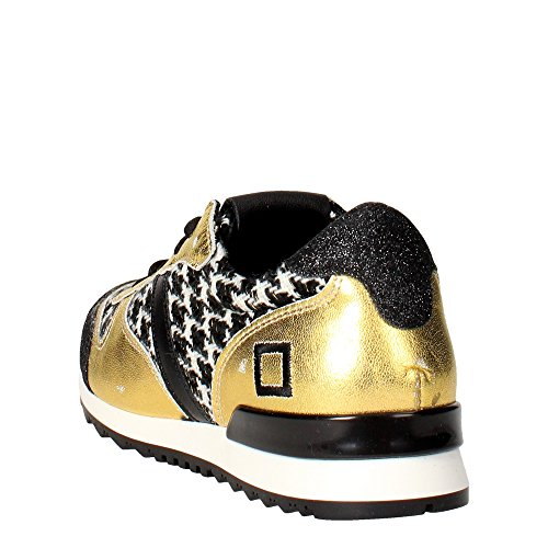 D.a.t.e. BOSTON Sneakers Donna Nero/Oro
