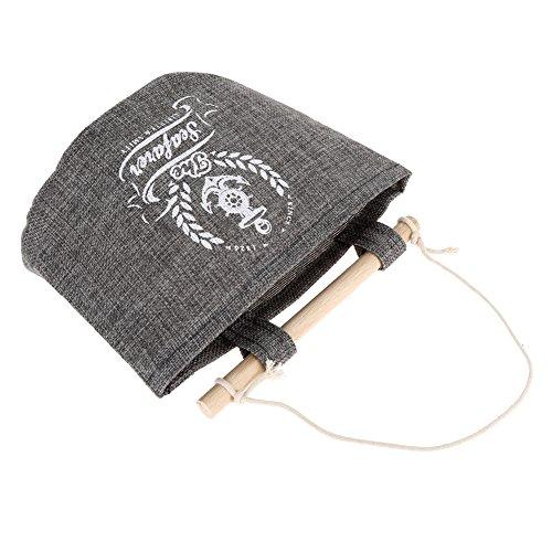 Demiawaking 4 Styles Navy Stoff Baumwolle Tasche Hängehalter Wandlager Taschen Racks (Weizen) (Stoff-gegenstände-taschen)