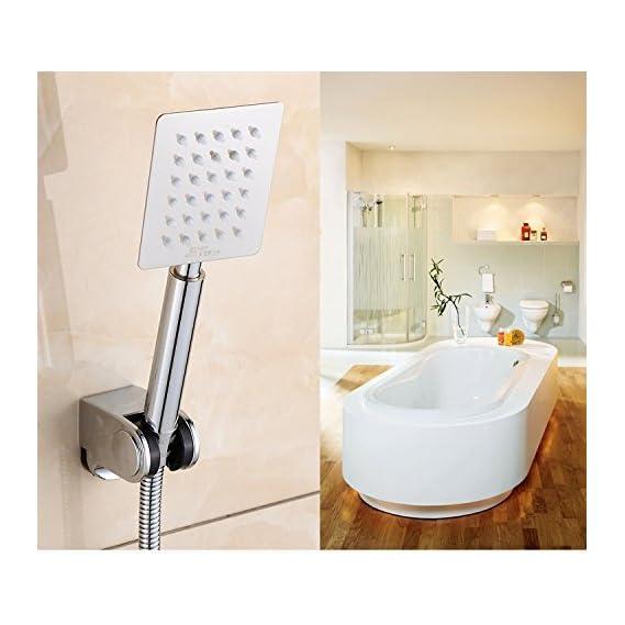 Kitsch R/N Astontm 230mm (9 Long) Ultra Slim 100mmx80mm (4X3) Rectangular Rain Spray SS Hand Shower Only