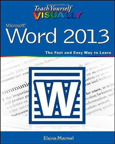 Teach Yourself VISUALLY Word 2013 by Marmel, Elaine (2013) Paperback