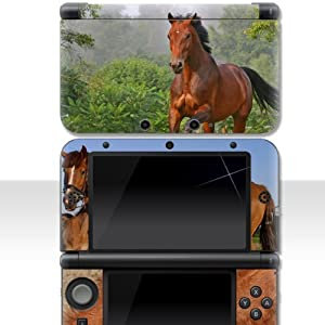 """Nintendo 3DS XL Skin """" PFERDE """" Aufkleber Sticker Folie Schutzfolie"""