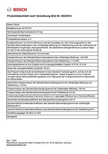 Wärmepumpentrockner Bosch WTY87701 - 3
