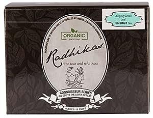 Radhikas Fine Teas and Whatnots Longjing Green Leaf Energy Tea, 50g