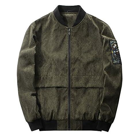 WALK-LEADER - Sweat-shirt à capuche - Col Cassé - Manches Longues - Homme - vert - X-Large