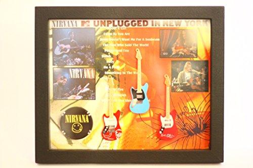Unbekannt rgm8839Kurt Cobain Nirvana Miniatur-Gitarre Collection in Shadowbox Rahmen (Cobain-gitarre Kurt)